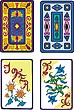 Jugando a las cartas | Ilustración vectorial