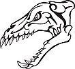 ID 3001069 | Dinosaurier-Schädel | Stock Vektorgrafik | CLIPARTO