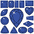 Kolekcja niebieskie diamenty | Stock Vector Graphics