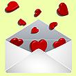 Liebesbrief mit Herzchen