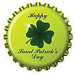 Flaschendeckel zum Tag von St. Patrick