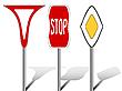 Stylizowane znaki drogowe | Stock Vector Graphics