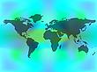 Weltkarte auf farbigem Hintergrund | Stock Vektrografik