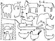 ID 3001735 | Tierische Schwarz-Weiße Silhouetten | Stock Vektorgrafik | CLIPARTO