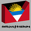 Antigua und Barbuda 3D-Flagge