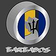 Barbados3D-Flagge