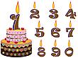 생일 케이크 | Stock Vector Graphics