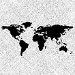 Weltkarte mit den Konturen der Kontinente