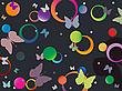 ID 3002813 | Schmetterlinge und Blasen | Stock Vektorgrafik | CLIPARTO