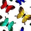 Schmetterlinge, nahtloses Muster