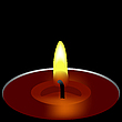 Kerze in der Dunkelheit