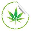 Cannabis-Aufkleber