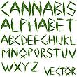 Cannabis-Buchstaben