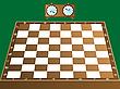ID 3002933 | Schachbrett und Uhr | Stock Vektorgrafik | CLIPARTO