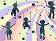 ID 3002947 | Vier Kinder Silhouetten | Stock Vektorgrafik | CLIPARTO