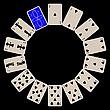 ID 3003011 | Pik kształcie okręgu kart izolowanych na czarno | Klipart wektorowy | KLIPARTO