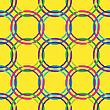 Gelbes nahtloses Design mit Kreise | Stock Vektrografik