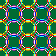 Grünes nahtloses Design mit Kreise | Stock Vektrografik