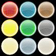 Farbige strukturierte Blasen