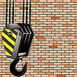 Векторный клипарт: крюк строительного крана