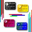 farbigee Disco-Kreditkarten