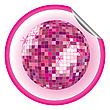 Aufkleber rosige Disco-Kugel