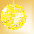 gelbe Disco-Kugel