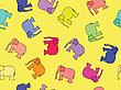 Nahtloses Elefanten-Muster | Stock Vektrografik
