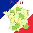 Frankreichs Karte