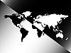 Weltkarte auf schwarz und weiß