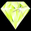 Zielony romb na czarnym | Stock Vector Graphics