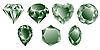 Kolekcja zielone diamenty | Stock Vector Graphics