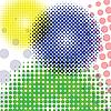 Круги из точек | Векторный клипарт