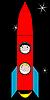 glückliche Kinder im Weltraum