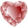 rosiger Brillant als Herz
