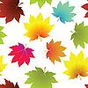 Textur mit Herbst-Blätter | Stock Vektrografik