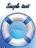 Blaue Rettungsring | Stock Vektrografik