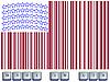 Barcode-Flagge von USA