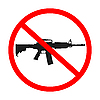 Оружие запрещено | Векторный клипарт