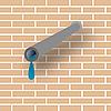 Векторный клипарт: труба и стена