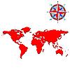 ID 3004935 | Weltkarte mit den Konturen der Kontinente | Stock Vektorgrafik | CLIPARTO