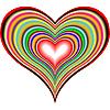 ID 3004965 | Tęcza serca | Klipart wektorowy | KLIPARTO