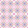 Rosiges nahtloses Blumenuster | Stock Vektrografik