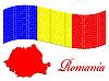 rumänische Flagge und Karte