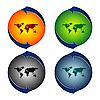 abstrakte Weltkarte-Blasen