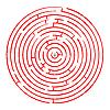 ID 3005086 | 화이트에 대 한 라운드 빨간색 미로 | 벡터 클립 아트 | CLIPARTO