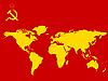 sowjetische Weltkarte