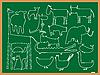 ID 3005118 | Klassentafel mit Tiersilhouetten | Stock Vektorgrafik | CLIPARTO