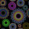 ID 3005180 | Schwarzes nahtloses Blumenmuster | Stock Vektorgrafik | CLIPARTO