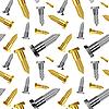 Goldene und Silbere Schrauben | Stock Vektrografik